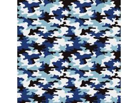 Legerprint  poplin Serie 1  Blauw  15572-008N
