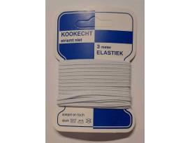 Soutache elastiek wit  kaartje met 3 mtr