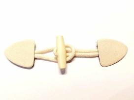 Houtje-touwtje sluiting Offwhite/creme