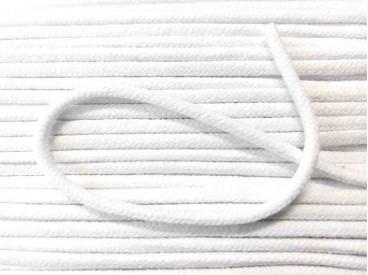 Wit koord.  5 mm. doorsnee