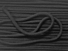 Zwart katoen koord. Extra dik.  5 mm. doorsnee