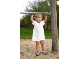 Mousseline stof effen wit  Een zachte babykatoen, met een kleine wafel structuur. 100% hydrofiele katoen 1.30 mtr. breed 135 gr