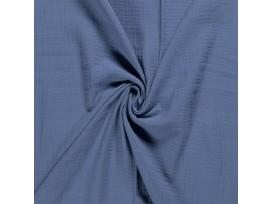 Mousseline  stof Effen  Jeansblauw  03001-006N