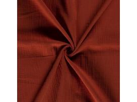 Mousseline  stof Effen  Brique  03001-156N