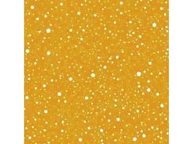 Mousseline stof met Stipjes   Okergeel/Wit  15512-034N