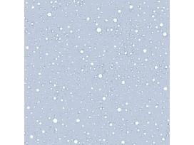 Mousseline stof met Stipjes  Licht oudblauw/Wit  15512-021N