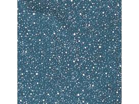 Mousseline met Stipjes Jeansblauw/Wit  15512-006N