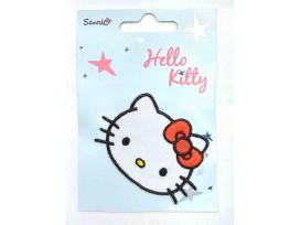 Een Hello Kitty opstrijkbare applicatie. 7x5 cm