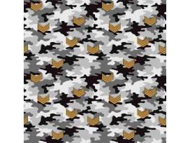 Legerprint  Grijs met geel V embleem  15801-063N
