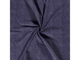 Mousseline  Donkerblauw met mini takjes