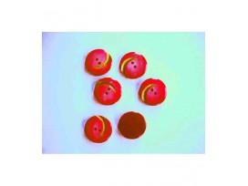 Serie knoop Rood met gouden krul 20mm. sk904