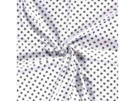 Mousseline  Wit met zwarte ster