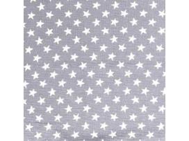 Mousseline  Lichtgrijs met witte ster