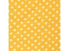 Mousseline  Okergeel met witte ster