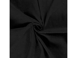 Mousseline broderie  Zwart  15141-069