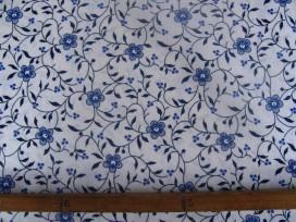 Delftsblauw met drukke takjes  Minicoupon 30cm