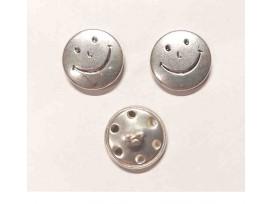 Smiley knoop Zilver 18mm