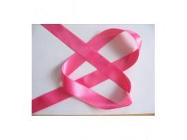 Satijnlint Pink per rol van 25 mtr  15 mm breed