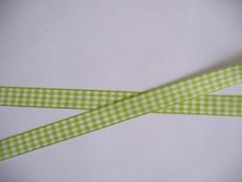 8y Boerenbont lint lime/wit geruit 15 mm. 229