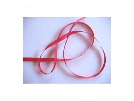 Satijnlint Helder rood 6 mm breed