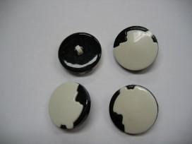Zwart/wit knoop Afgebrokkeld zw250