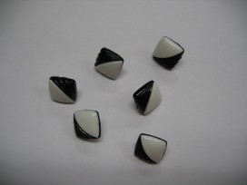 Zwart/wit knoop Vierkant met zwarte golf zw251a
