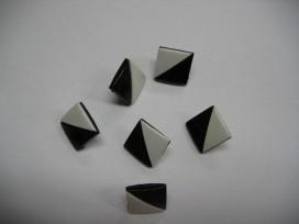 Zwart/wit knoop Vierkant half om half zw257