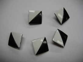 Zwart/wit knoop Vierkant half om half zw258