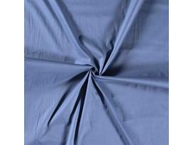 Poplin katoen effen Jeansblauw