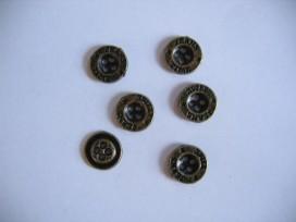 5y Jeansknoop Oud goud 12mm jk341