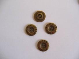 6v Jeansknoop Goud 15mm jk356