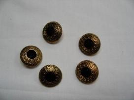 Hollandse knoop Klederdracht goud/zwart 18mm hk134