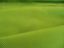 Mini stip katoen lime/wit 8208