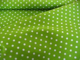 Middel stip katoen Lime/wit 8209