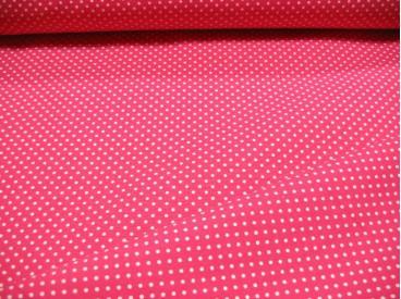 Mini stip katoen Pink/wit 8214