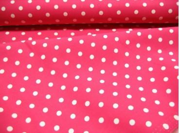 Middel stip katoen Pink/wit 8215