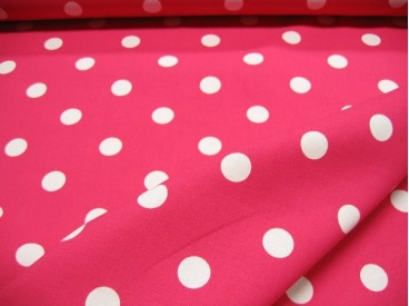 Grote stip katoen Pink/wit 8216