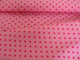 Middel katoen stip Roze/pink 8221