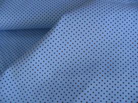 Mini stip katoen Lichtblauw/bruin 8236