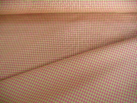 Boerenbont ruit Lime/pink 3 x 3 mm 8252