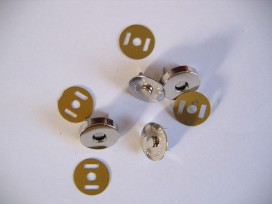 Inslag drukknopen Zilver Magnetisch 18mm
