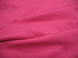 Rode katoenen boordstof. rond gebreid. 38 cm. dubbel. Minimale afname is 0,50 mtr.