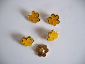 Kinder bloemknoop Goud met geel kbk53