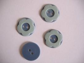 Kinder bloemknoop Blauw/grijs kbk62