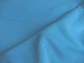 Aquakleurige jogging stof. Deze sweatstof is ook een heel geschikte stof voor huispakken.  80%co/20%pe  1.50 mtr.br.  245 gram/m