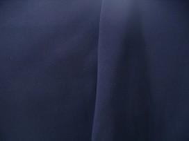 Mooie kwaliteit donkerblauwe joggingstof. 65%co./35%pl. 1.40/1.45 mtr.br. 285 gr/m2