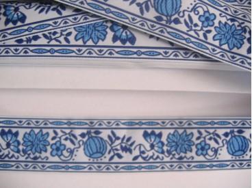 Delfts blauw sierband 30 mm. br.