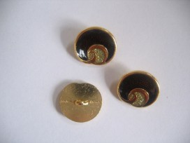 5k Damesknoop Sjiek metaal Donkerbruin met goud 18mm dksm240