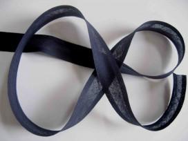 Biaisband Donkerblauw 2cm breed