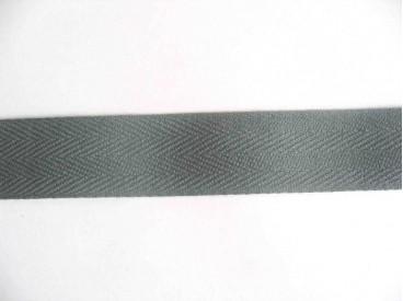 Keperband 3cm. grijs